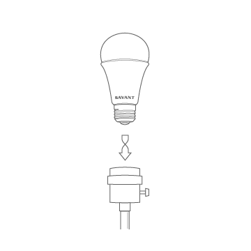 Line image - Step 1: Twist in your new Savant Bulb